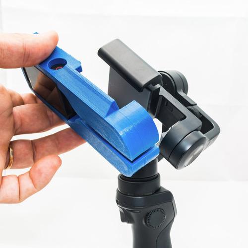 adaptador p/ usar gopro no dji osmo mobile 2 - novo design