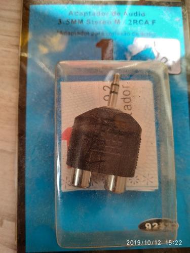adaptador p2 3.5mm stereo m 2 rca remea