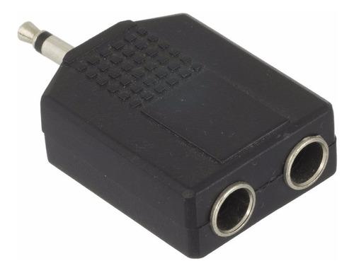 adaptador p2 macho mono x 2 p10 fêmea - divisor 1 p2 x 2 p10