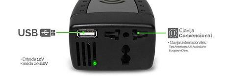 adaptador para auto ghia 1 contacto 110v 60hz 150w  usb