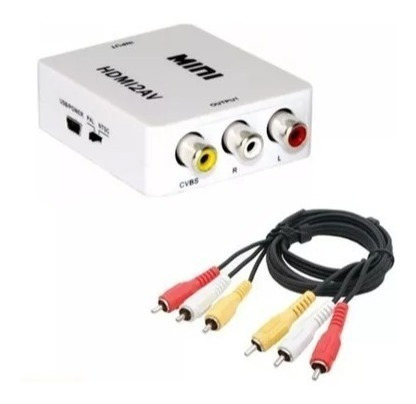 adaptador para conectar chromecast em tv de tubo hdmi rca
