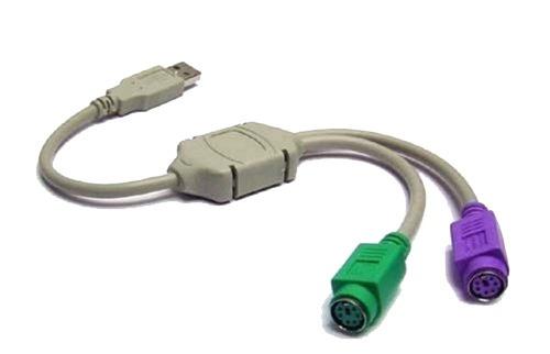 adaptador para teclado y mouse usb a ps/2
