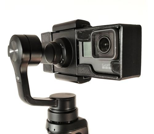 adaptador para usar gopro 5, 6 ou 7 no dji osmo mobile 2