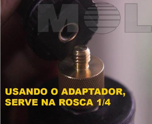 adaptador parafuso da sapata 3/8  para 1/4 tripé camera led