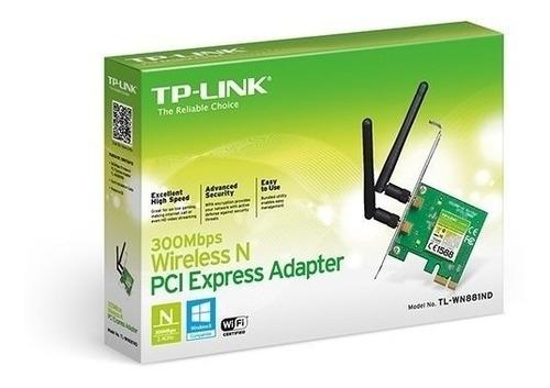 adaptador pci express inalámbrico n300 mbps tl-wn881nd
