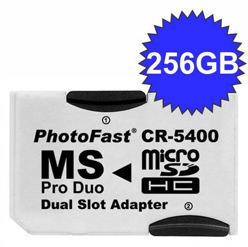 adaptador photofast cr-5400 p/ memory stick pro duo !!! top