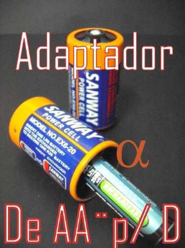 adaptador pilha aa¨para d¨+4 pilhas panasonic 1.5v
