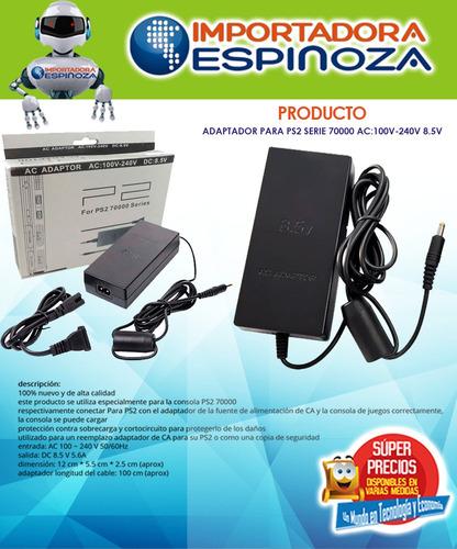 adaptador play station 2 ps2 8.5v ac cargador de corriente