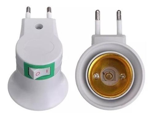 adaptador porta lámpara común a enchufe toma directo a 220v