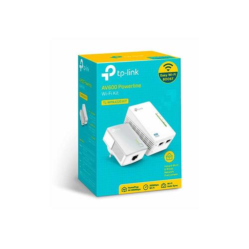 adaptador powerline tp-link tl wpa4220kit  wi-fi de 300mbps