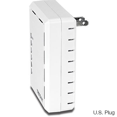 adaptador powerline trendnet 500av 4 puertos + rapido q wifi