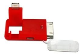 adaptador powersync micro usb 30pin light rojo - tecsys