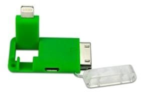 adaptador powersync micro usb 30pin light verde-tecsys