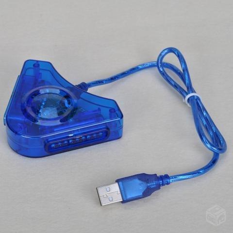 adaptador ps1 ps2 usb para pc ou notebook. envio td.brasil