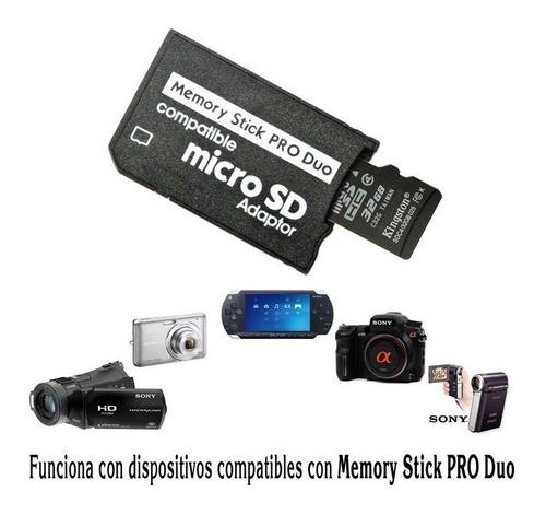 adaptador psp de memoria micro sd a memory stick pro duo