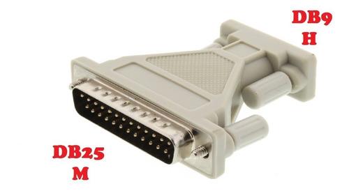 adaptador puerto db25 macho a serial db9 hembra centro