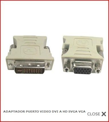 adaptador puerto video dvi a hd svga vga galaxy pc laptop
