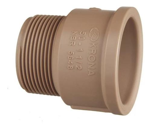 adaptador pvc solda rosca curto de 50mm x 1.1/2 kit (5pç)