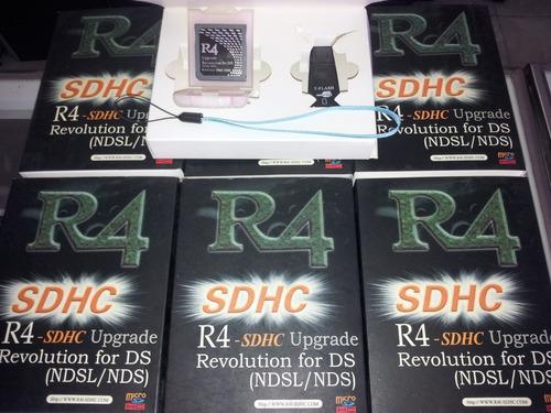 adaptador r4 de nintendo ds/ds lite + adaptador de micro sd
