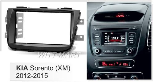 adaptador radio consola kia sorento 2013-14   doble din
