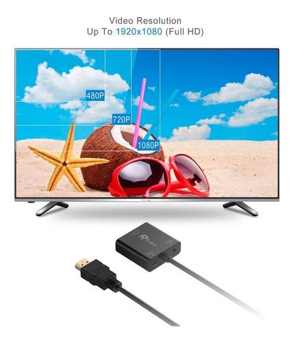 adaptador - rankie - hdmi a vga - 1080p - activo con audio
