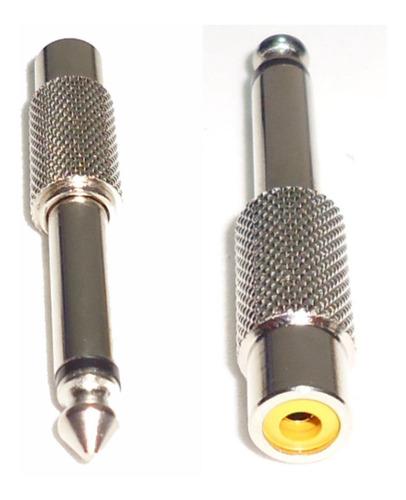adaptador rca a plug mono metalico calidad