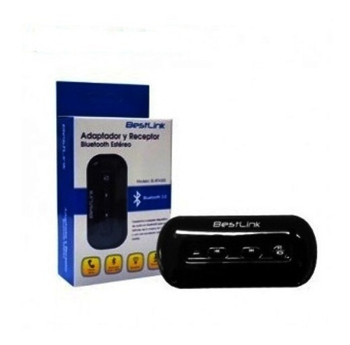 adaptador receptor bluetooth estéreo bestlink  manos libres
