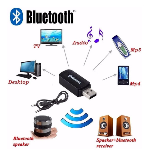 adaptador receptor bluetooth tipo pendrive 3.5mm