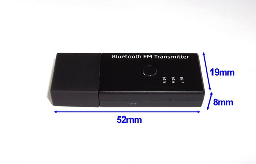 adaptador receptor de audio bluetooth integrado com transmissor fm estéreo / alimentação via usb / sem bateria interna