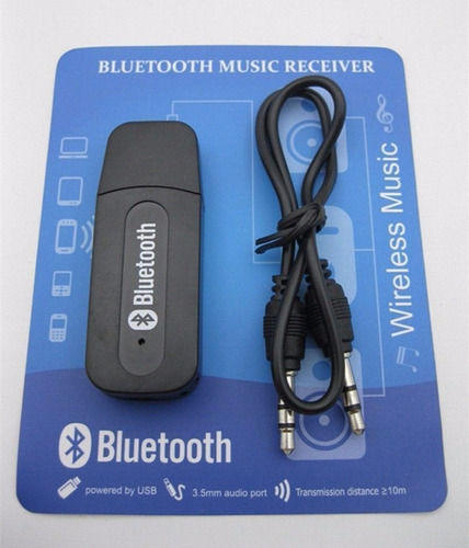 adaptador receptor de audio usb bluetooth 3.5mm inalambrico