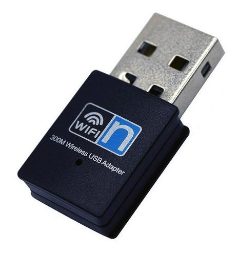 adaptador receptor wifi usb mini 300 mbps pc laptop nuevo