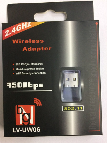 adaptador receptor wireless usb wi-fi  450mbps