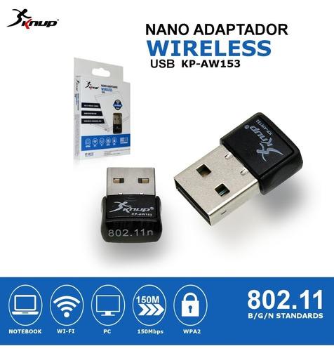 adaptador receptor wireless wi-fi usb 2.4 ghz 150mbps 802.11