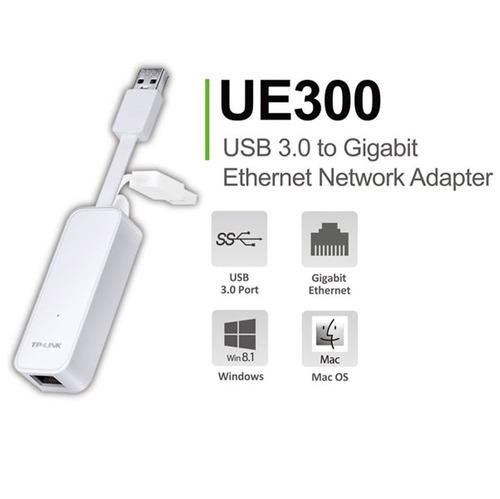 adaptador red usb 3.0 tp-link ue300 rj45 gigabite