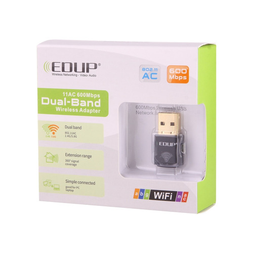 adaptador red usb edup ep-ac mini wireless mbps ghz blanco