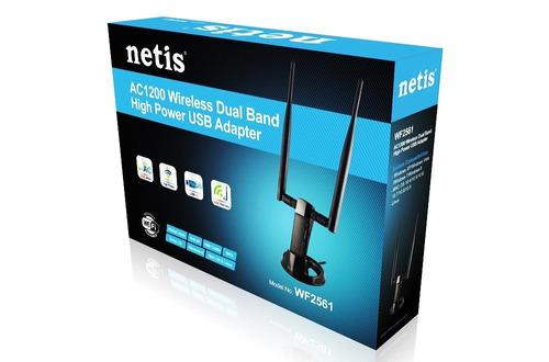 adaptador red usb netis wf2561 wireless ac1200 500mw high