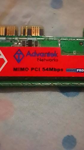 adaptador  red wifi advantek networks 54mbps