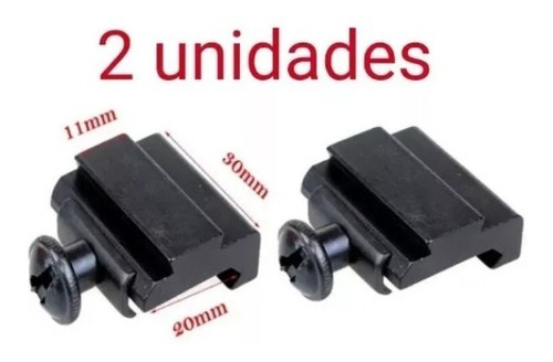adaptador rieles de 19 a 24 mm haciendo compatible 9 a 12 mm