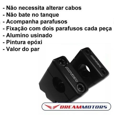 adaptador / riser 45º guidão honda nc700x nc 700 x 750 nc750