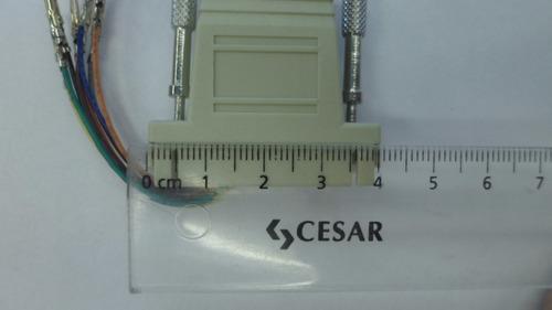 adaptador rj45 8 contactos a serial 4 cm para armar mn#1021
