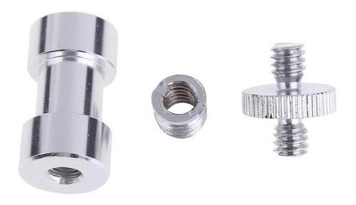 adaptador rosca tornillo tripode 1/4- 3/8 hembra macho
