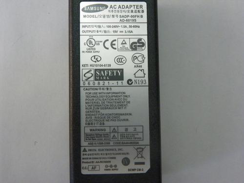 adaptador samsung 19v 3.15a original nuevo  gran calidad