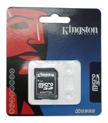adaptador sd kingston para micro sdhc lê até 32gb