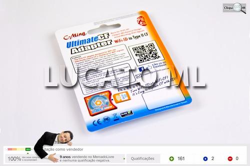 adaptador sd wifi p cfii compact flash 2 +frete grátis nc