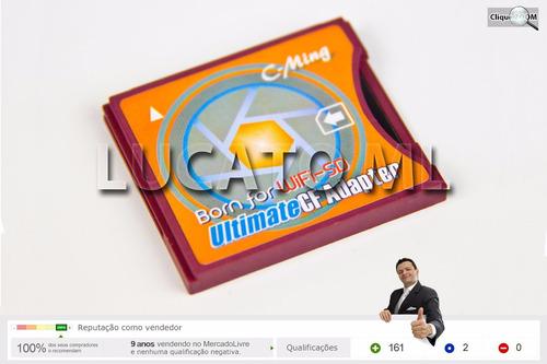 adaptador sd wifi* p/ compact flash ii cf2 + frete grátis np