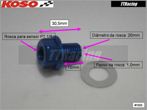 adaptador sensor temperatura koso óleo m20x1,0 #1353