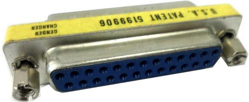 adaptador serial paralelo db-25 macho hembra compacto v2570