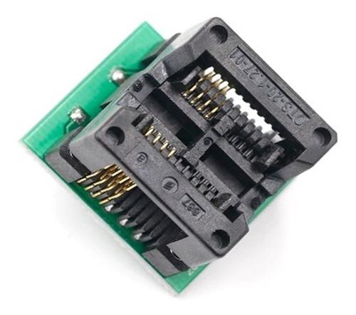 adaptador smd so8 soic8 sop8 p/ dip8 eprom 200mil 208mil
