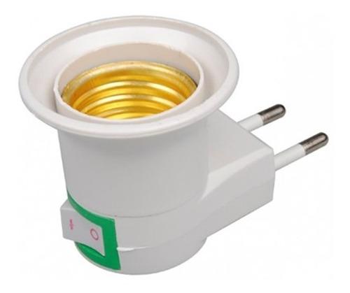 adaptador soquete ampolleta e27 enchufe interruptor + envio