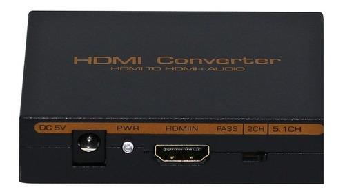 adaptador splitter hdmi a hdmi + audio rca + optico spdif